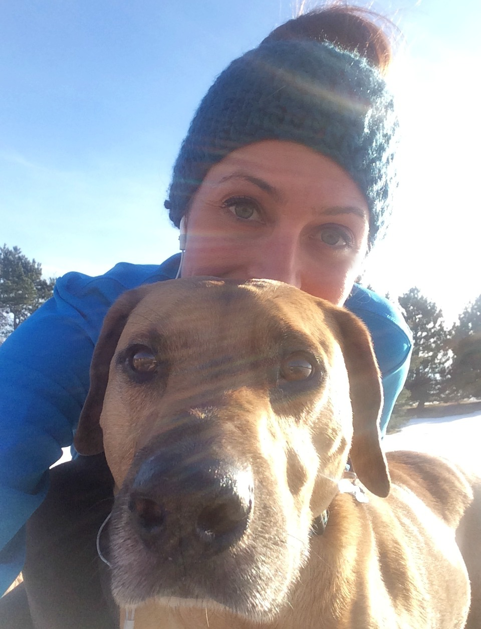 running in the sunshine with roadie