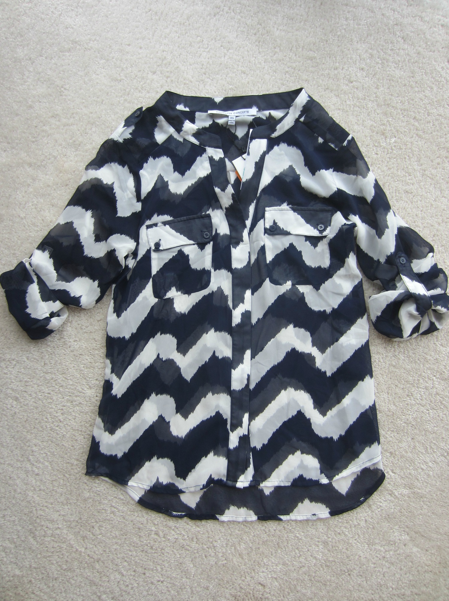 stitch fix collective concepts wavy chevron pocket blouse