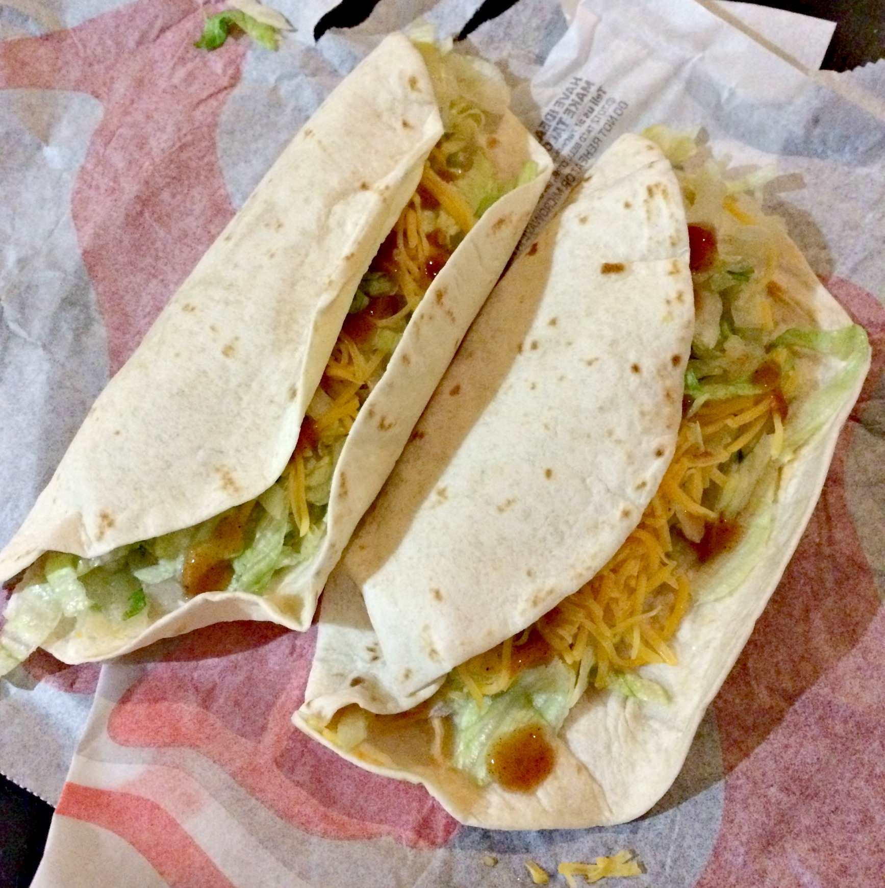 taco bell chicken soft tacos