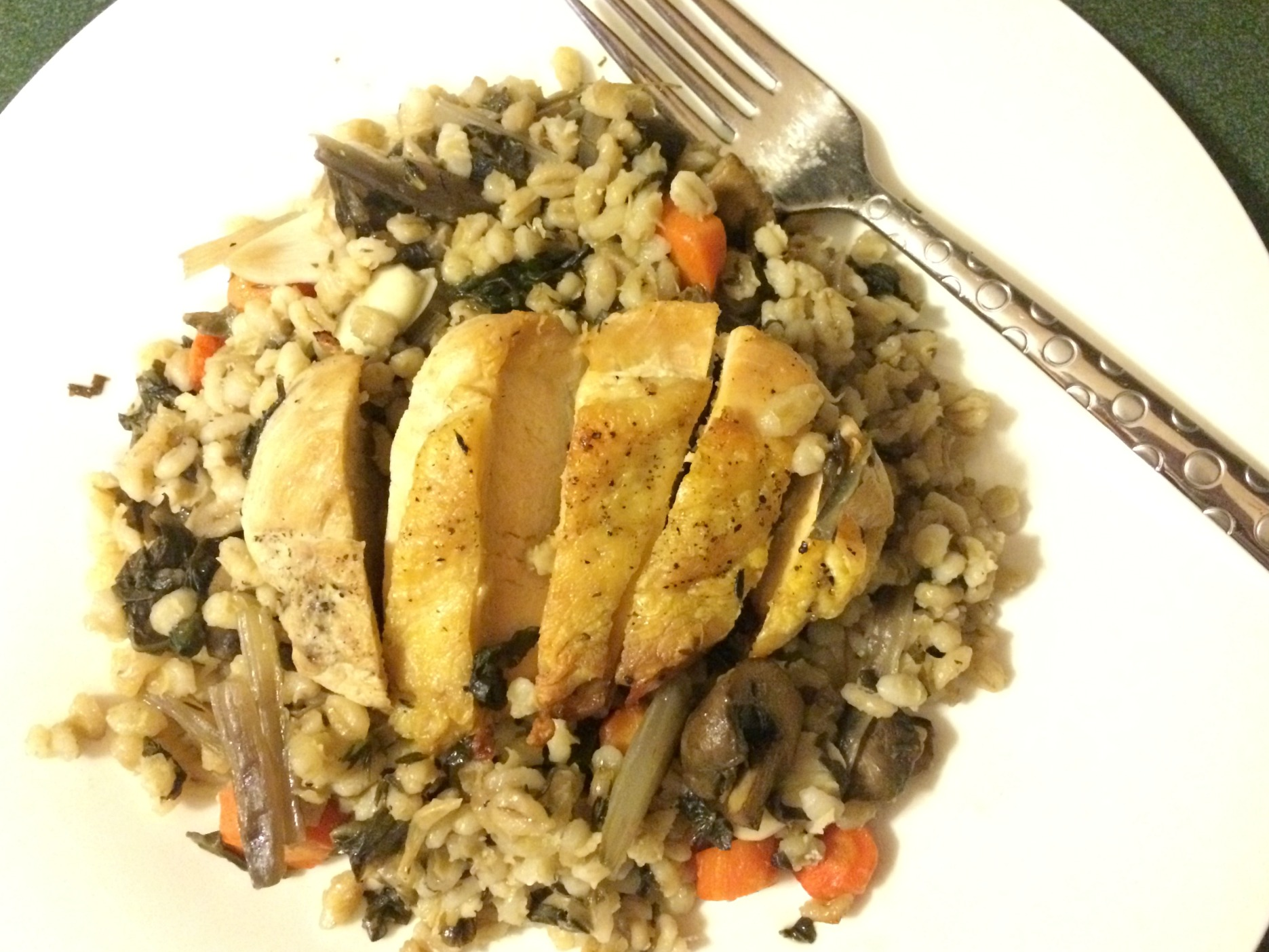 Blue Apron Pan-seared chicken dinner