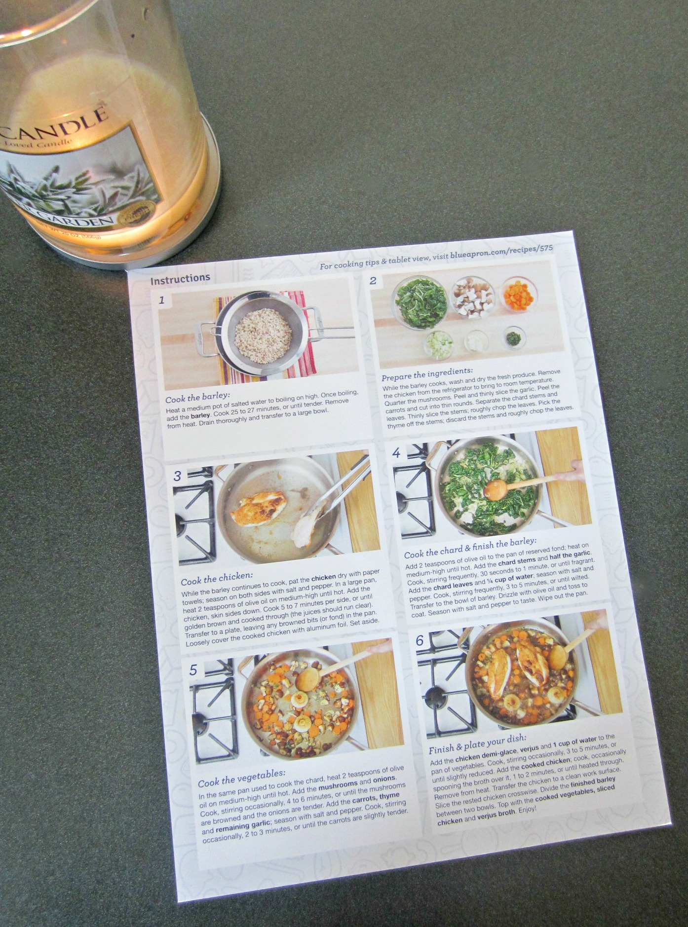 Blue Apron Recipe and Delivery