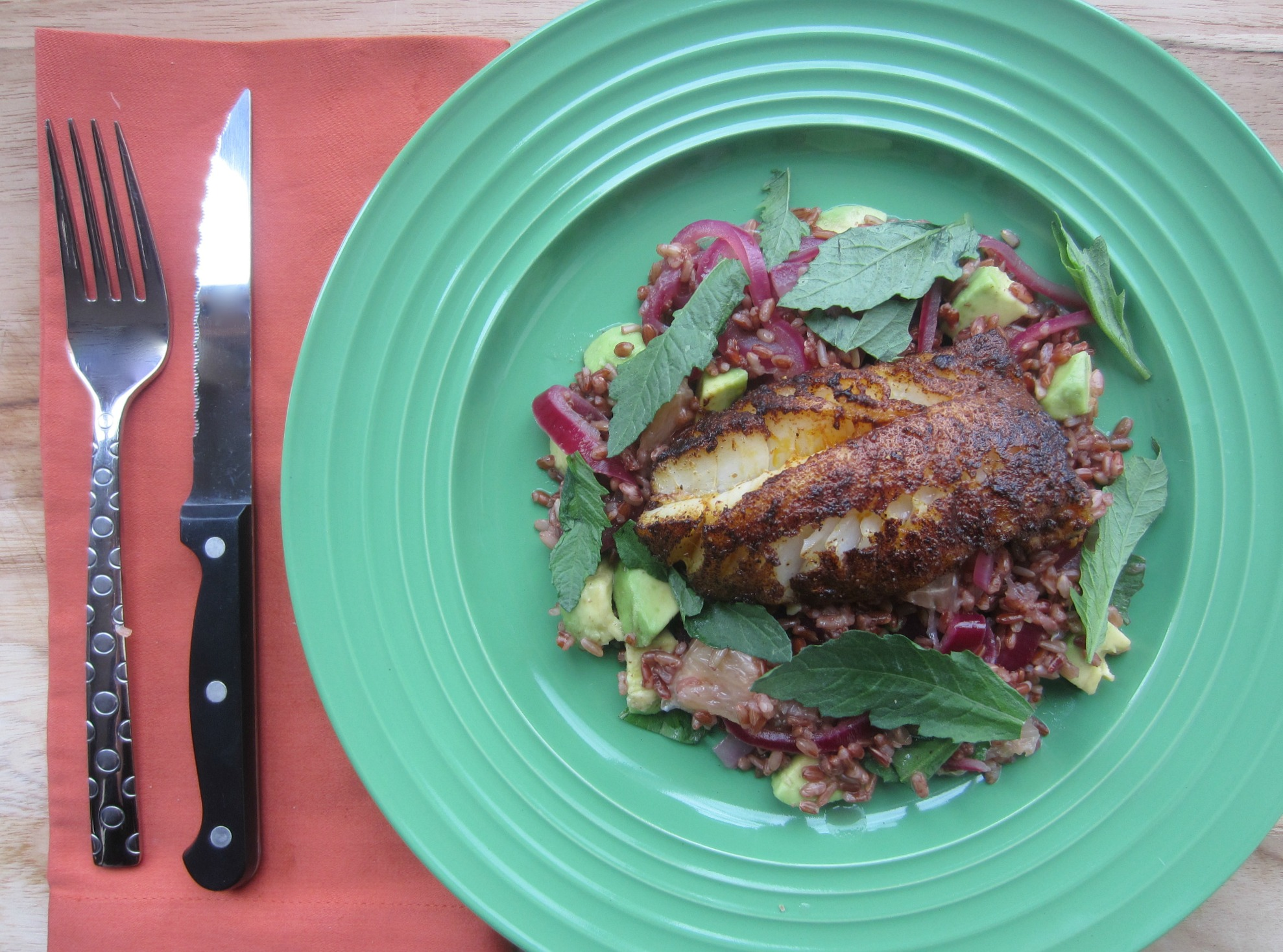 Chile-Blackened Cod Blue Apron 2