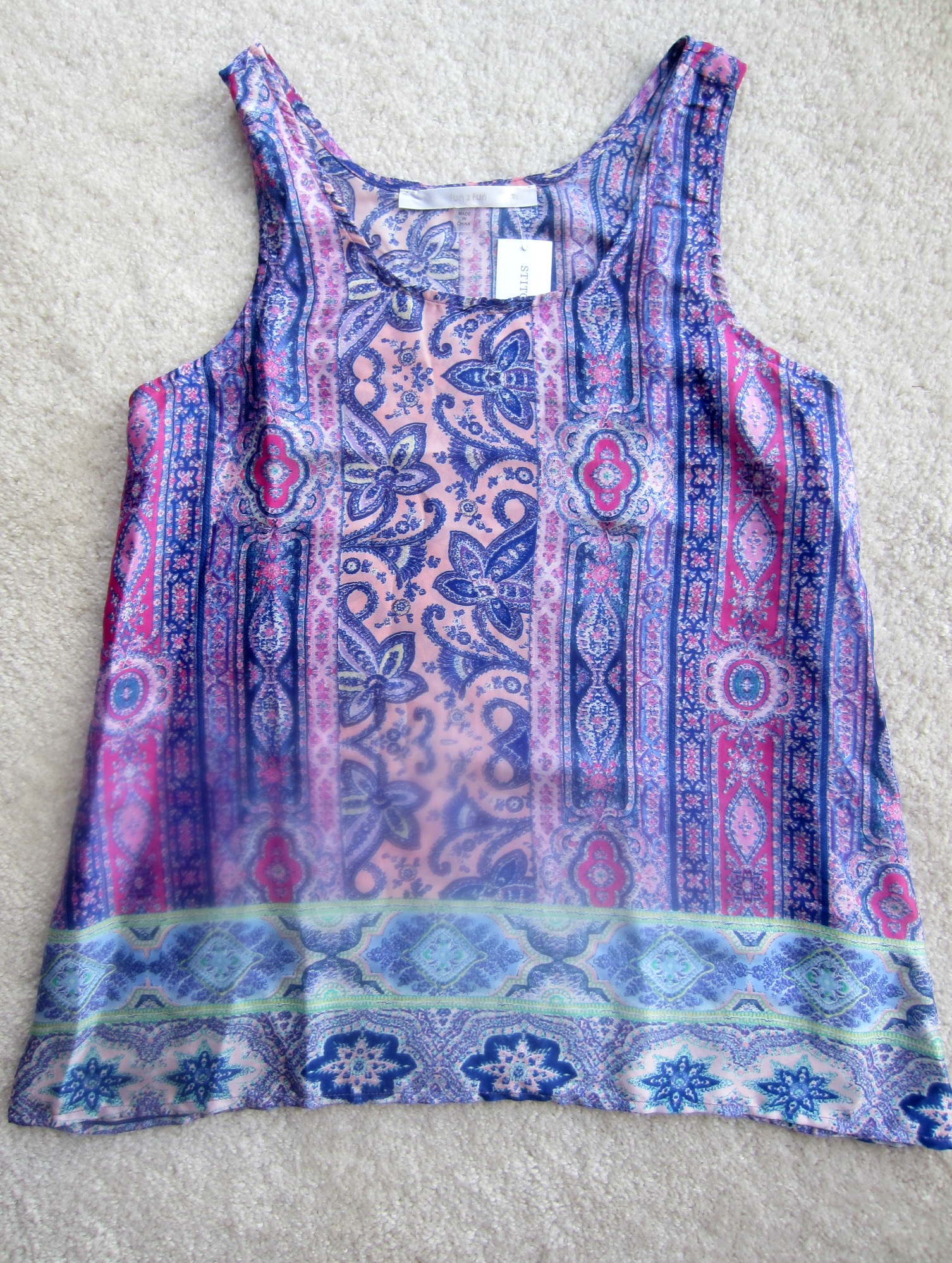 Fun2Fun Clarise Mixed Print Tank Stitch Fix