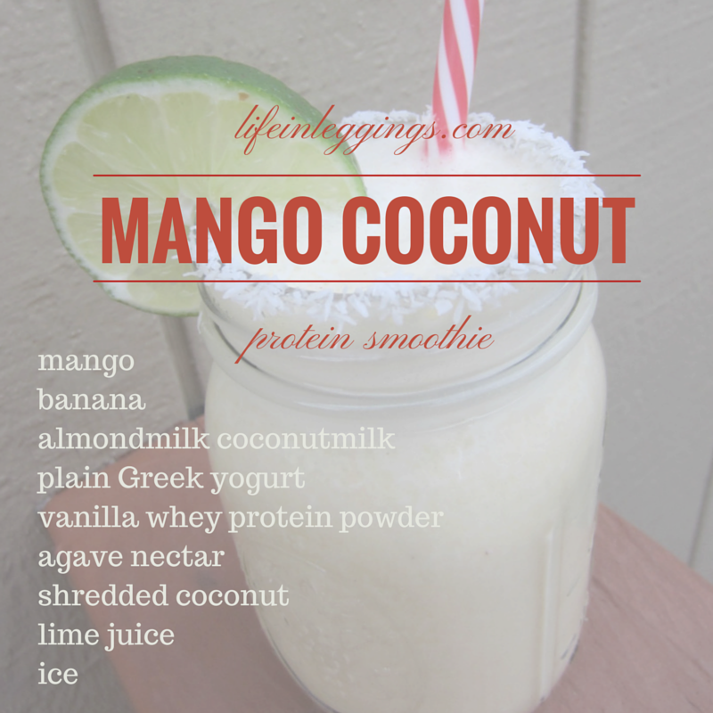 mango coconut protein smoothie