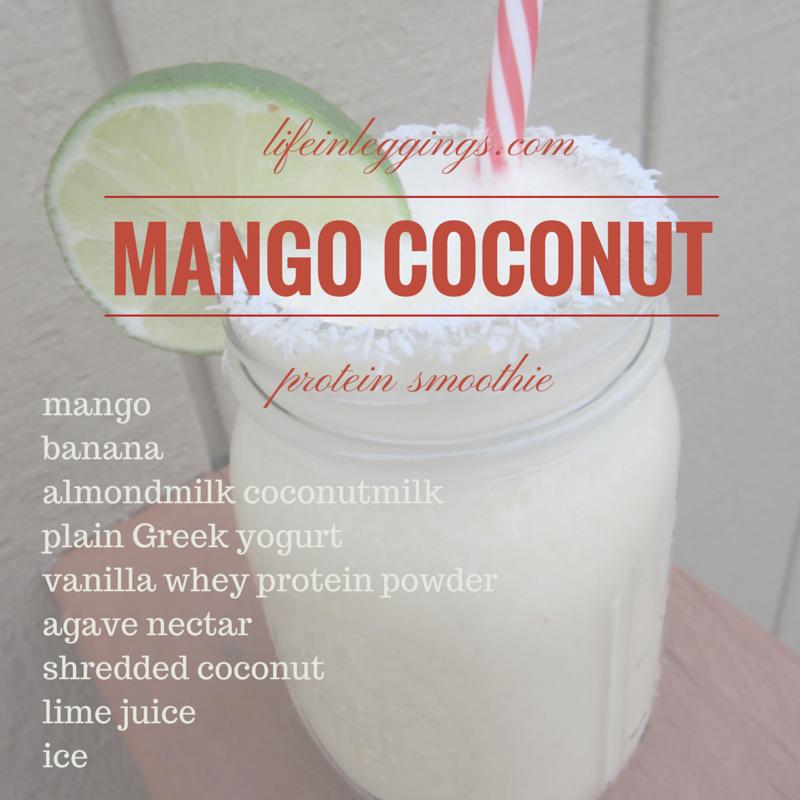 mango coconut protein smoothie