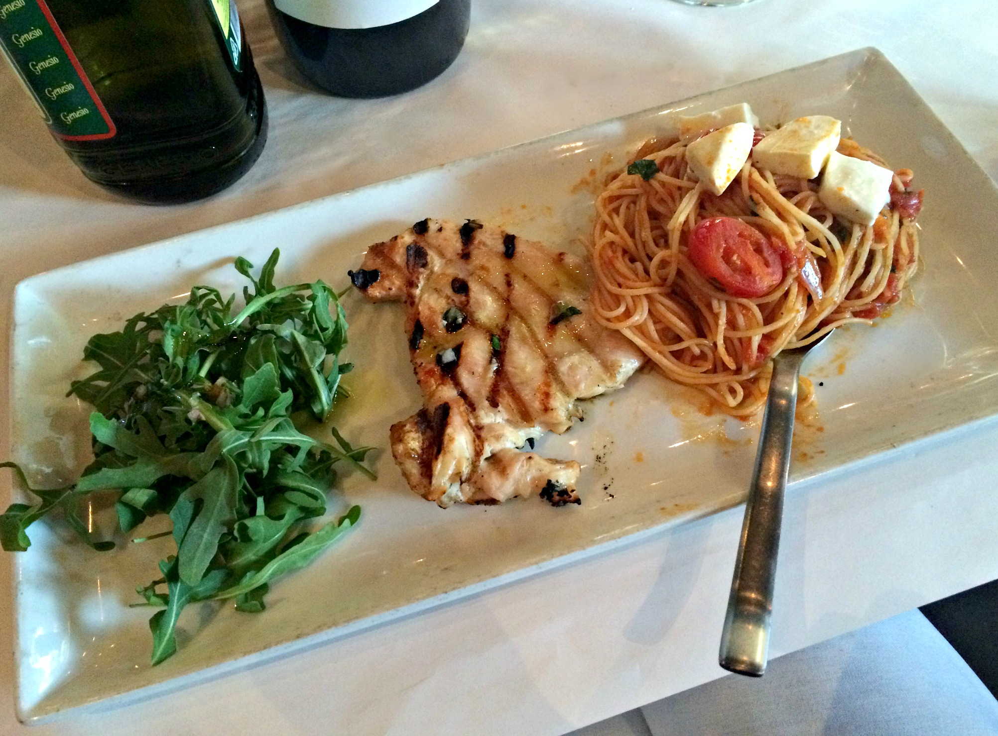 Macaroni Grill chicken caprese dinner