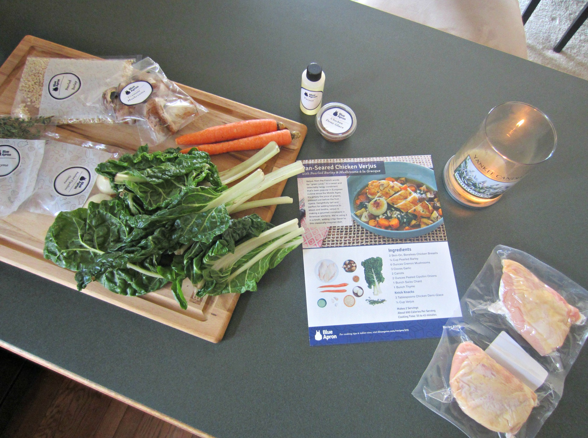 Pan-Seared Chicken Verjus Blue Apron Meal 1
