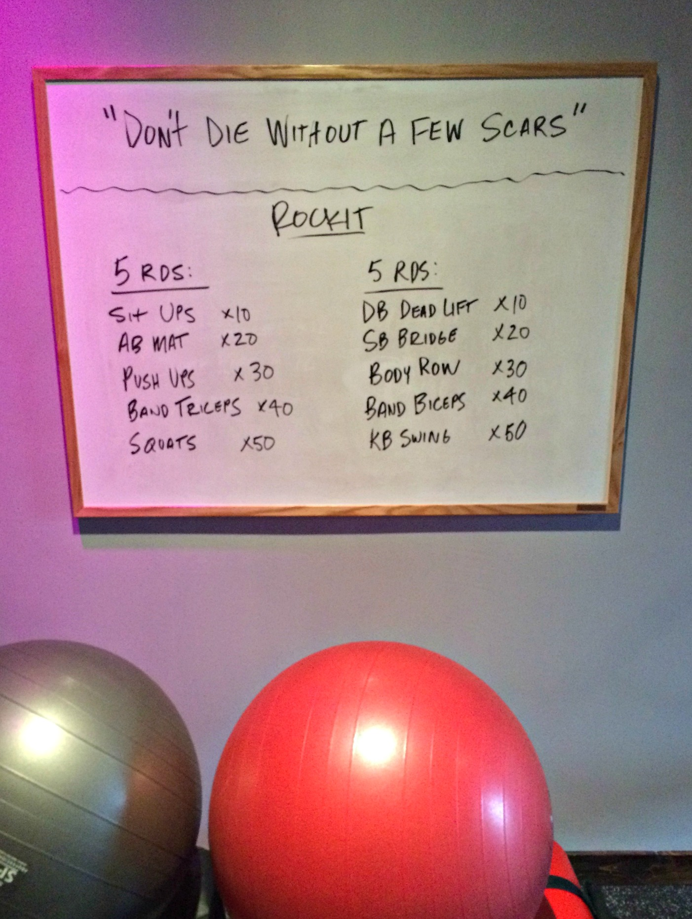 Rockit workout of the day