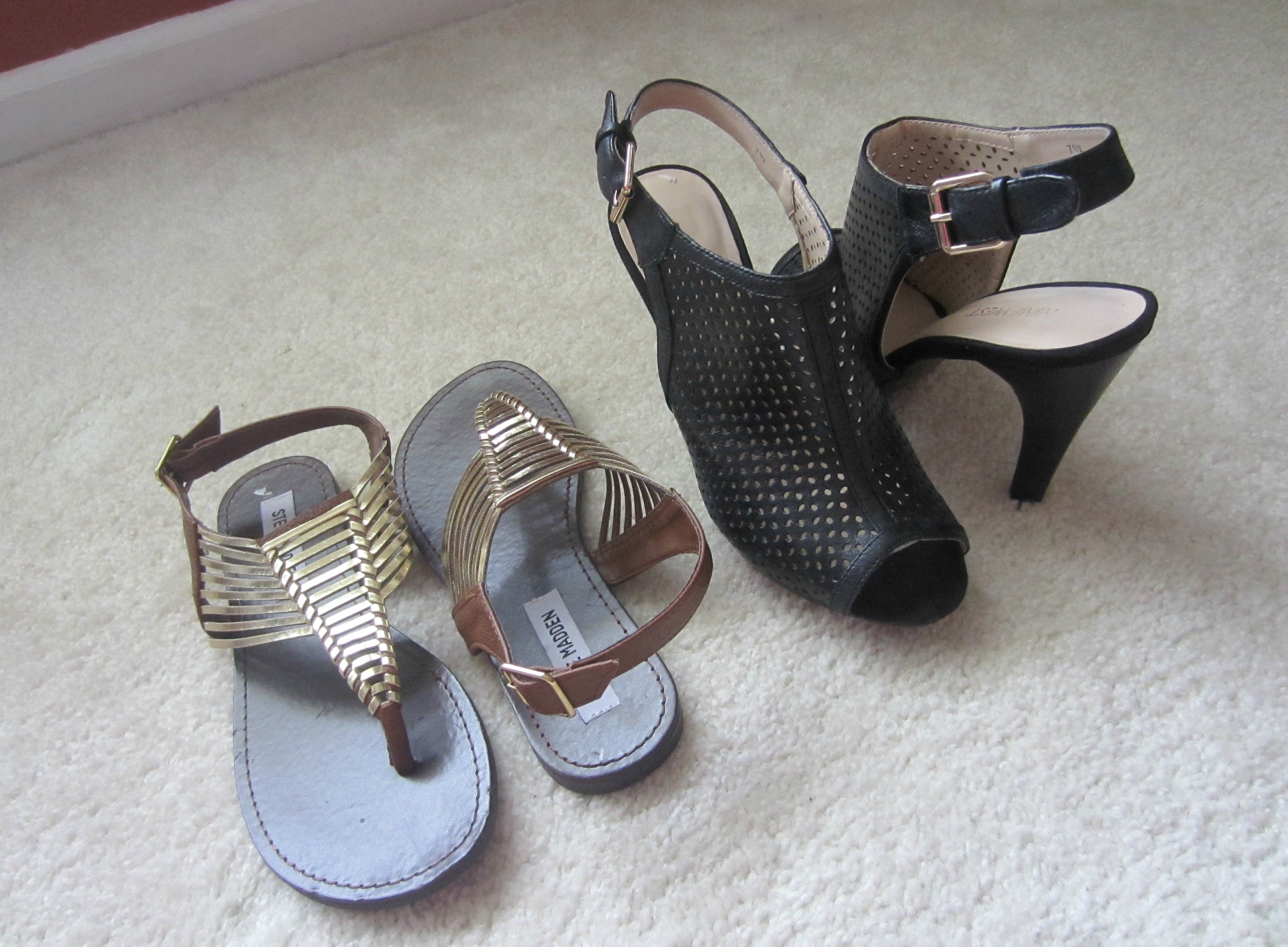 Steve Madden and Nine West shoes from TJMaxx