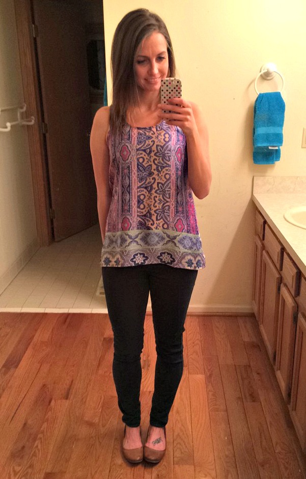 Stitch Fix Fun2Fun Clarise Mixed Print Tank
