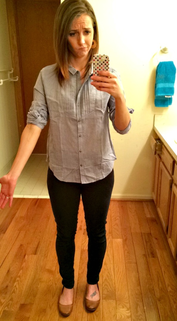 Stitch Fix Skies are Blue Demitruis Button Up Top