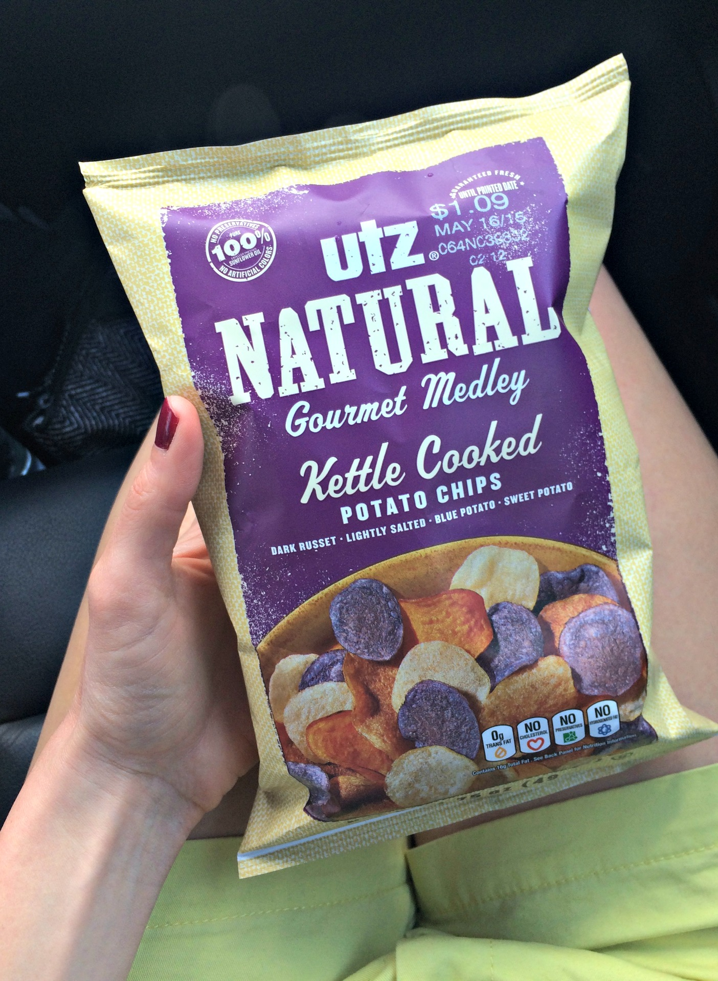 Utz Natural Gourmet Kettle Cooked Chips