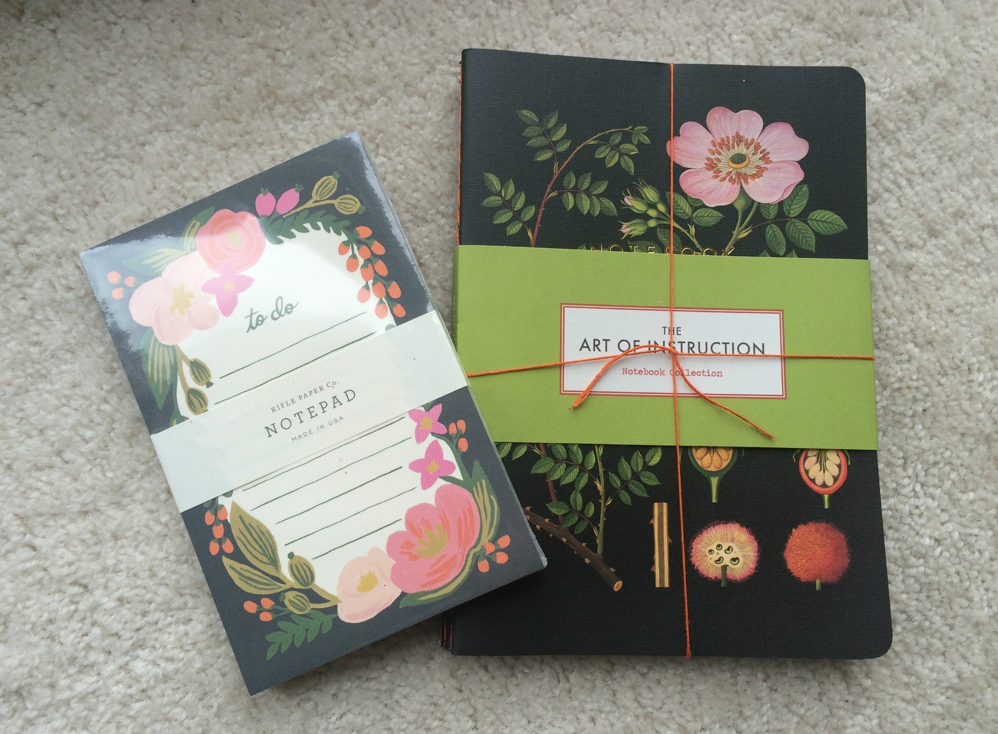 anthropologie stationary and journal