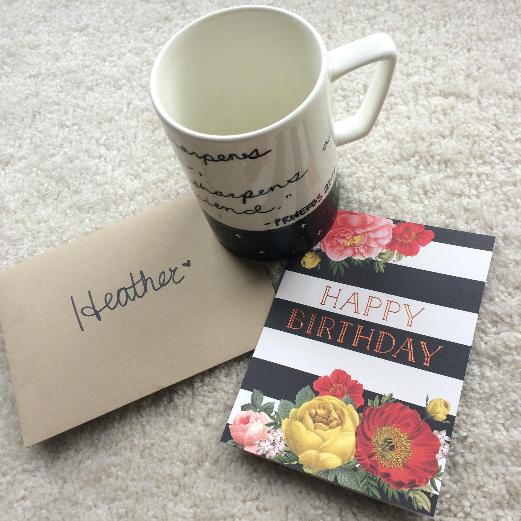 birthday surprise mug