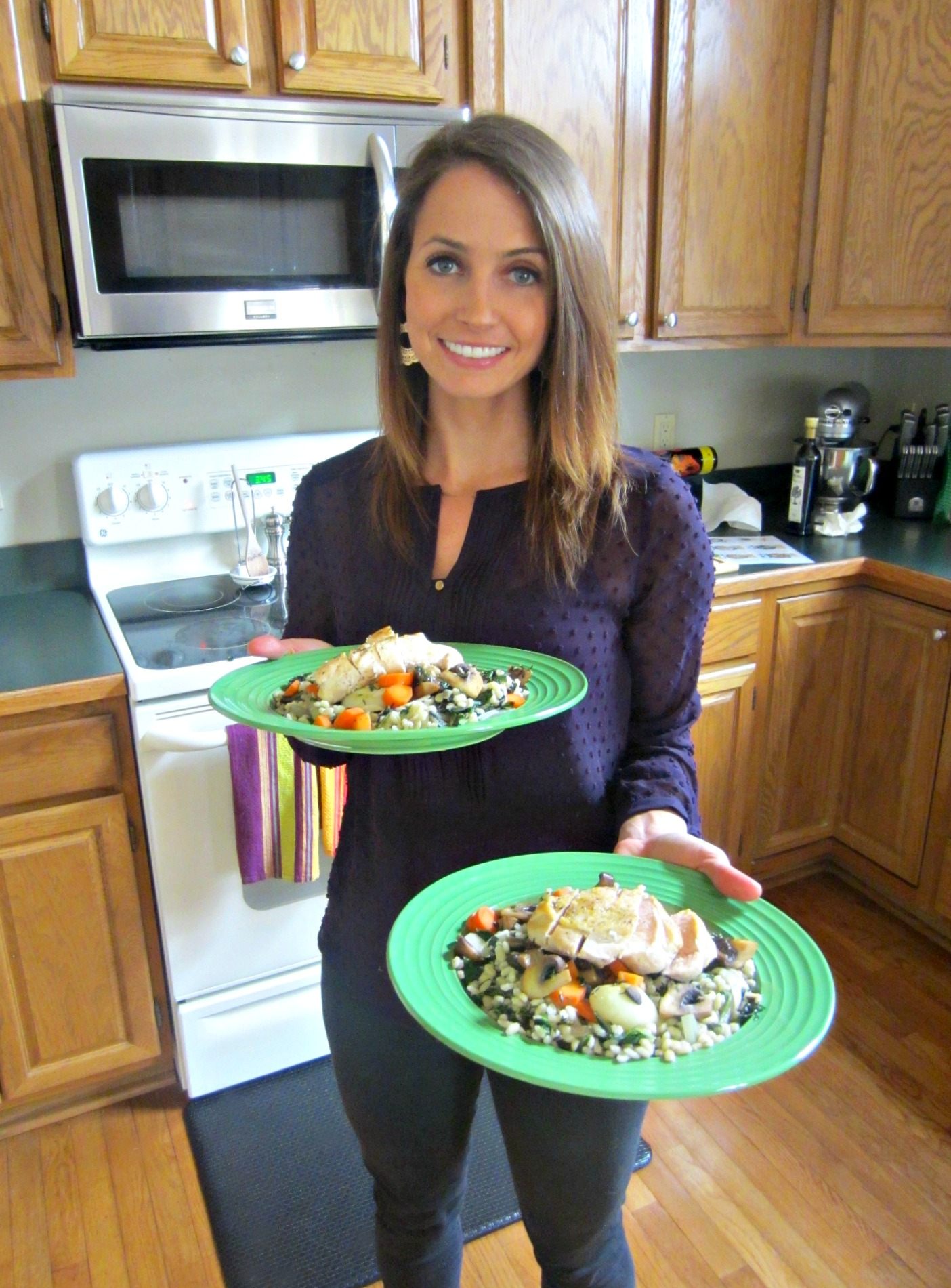 cooking dinner with Blue Apron Delivery Service