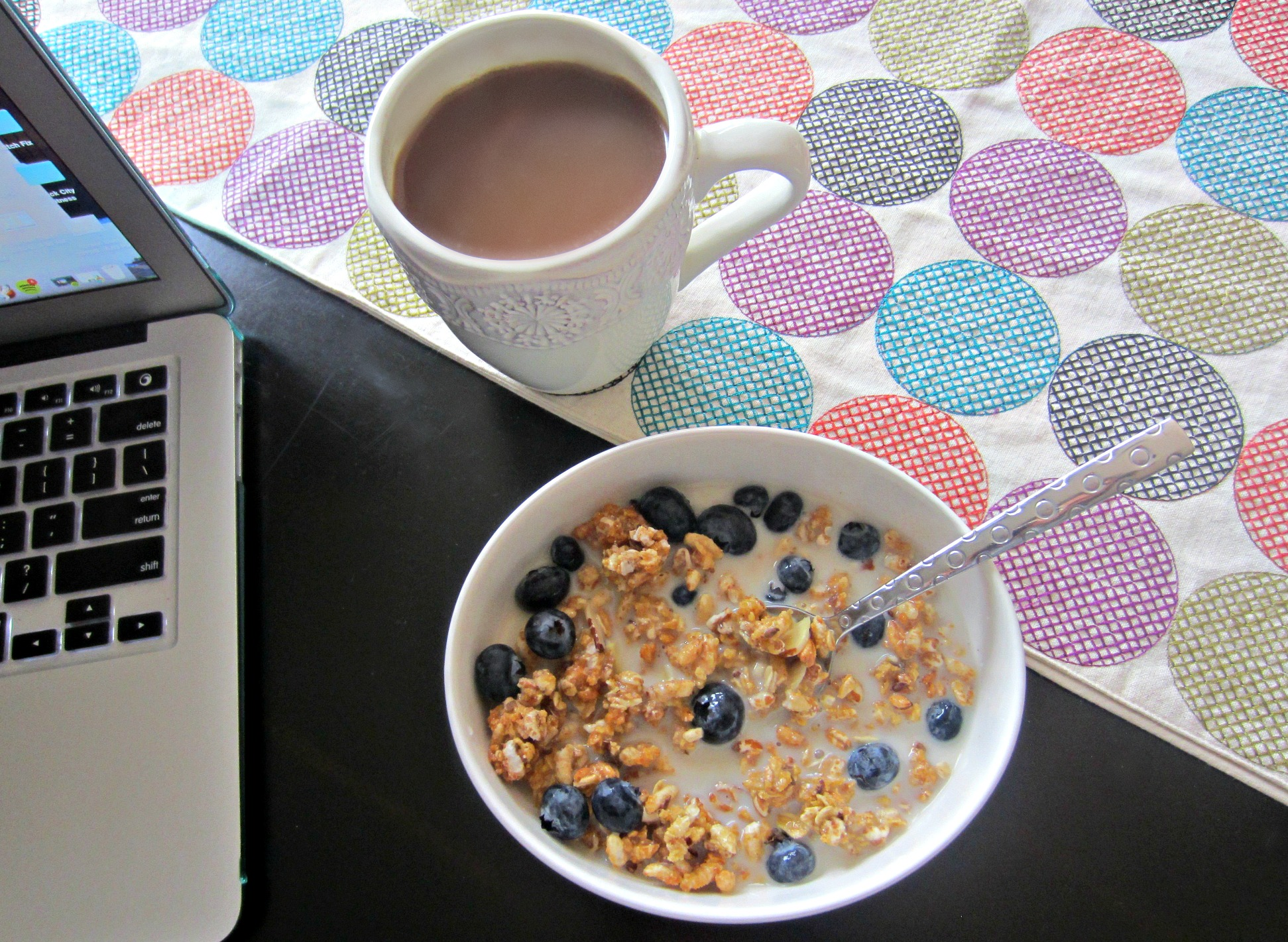 go lean crunch cereal with coffee for breakfast