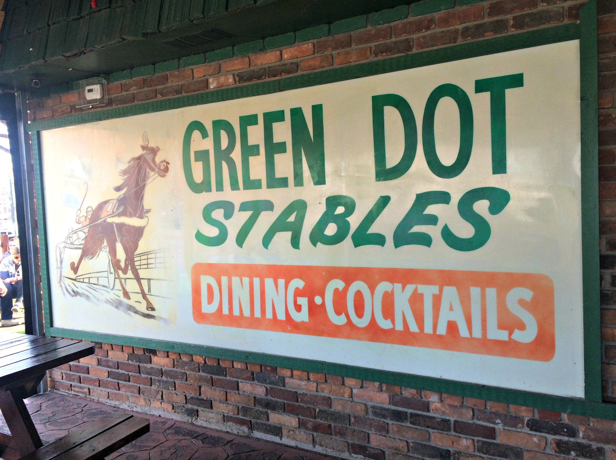 green dot stables patio