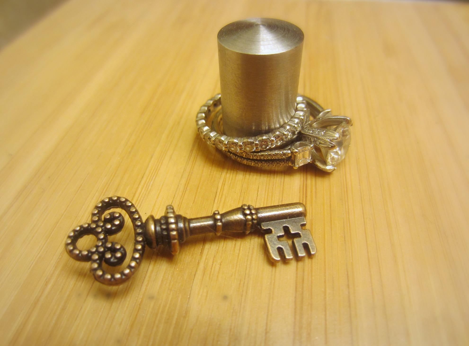 key with cross