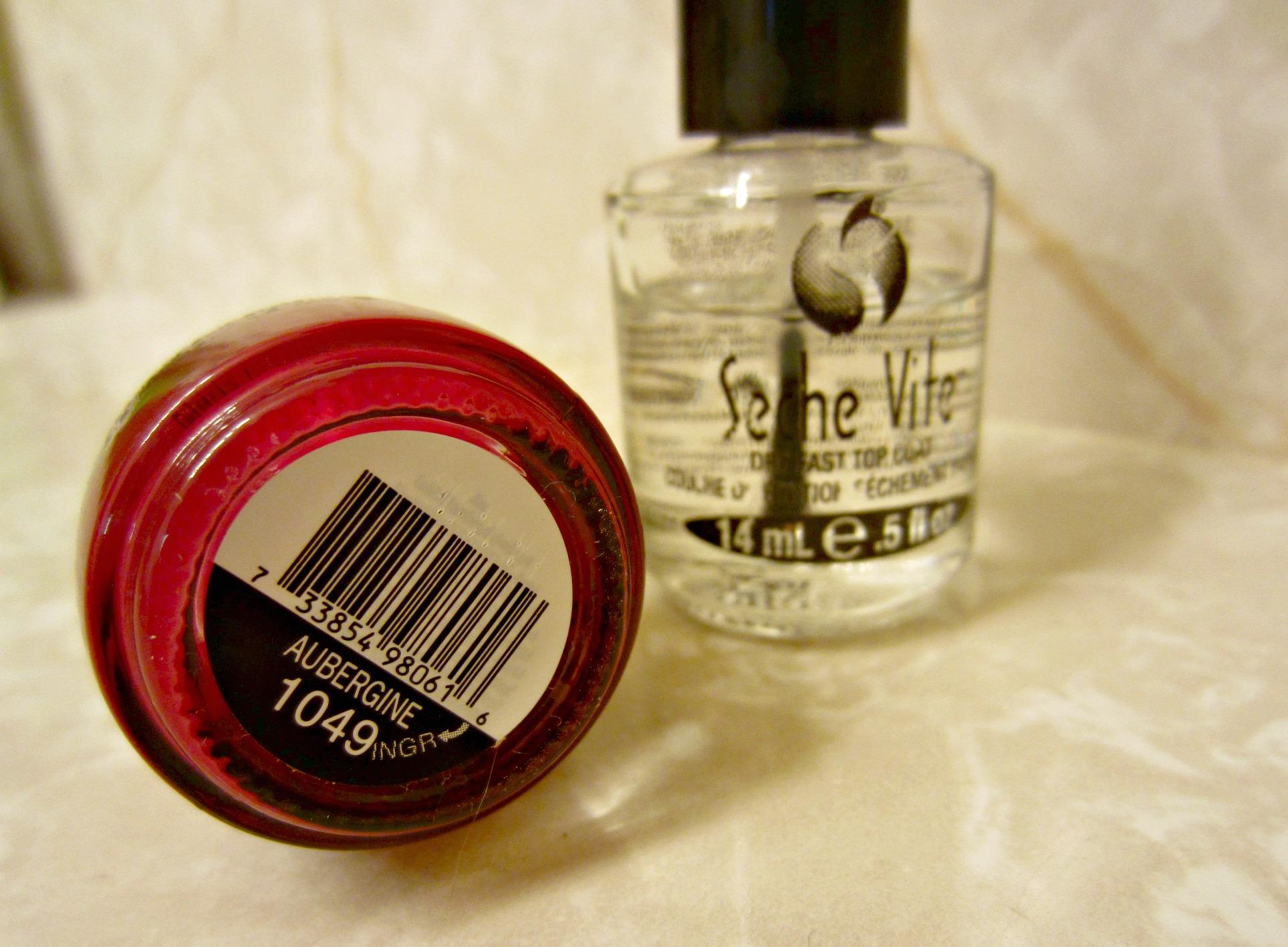 maroon nail polish