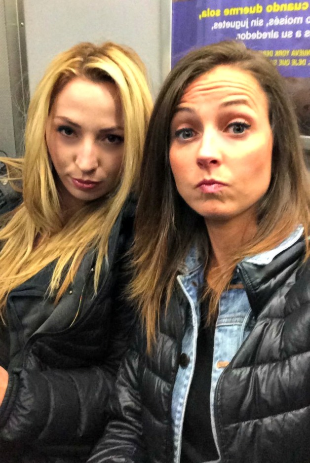 on the subway with lauren