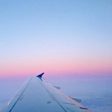 plane ride sunrise
