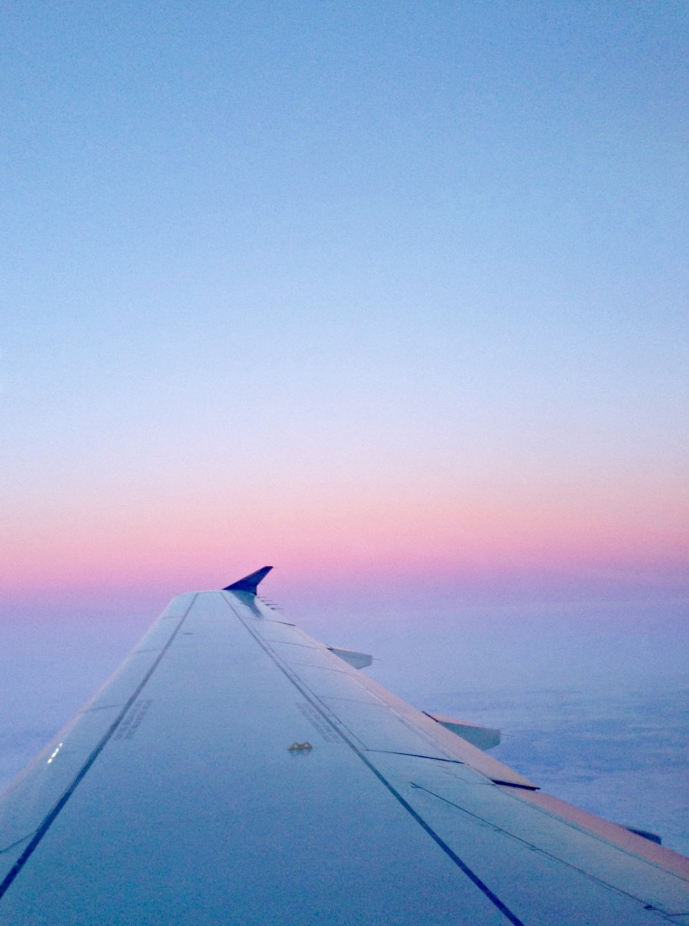 plane ride sunrise