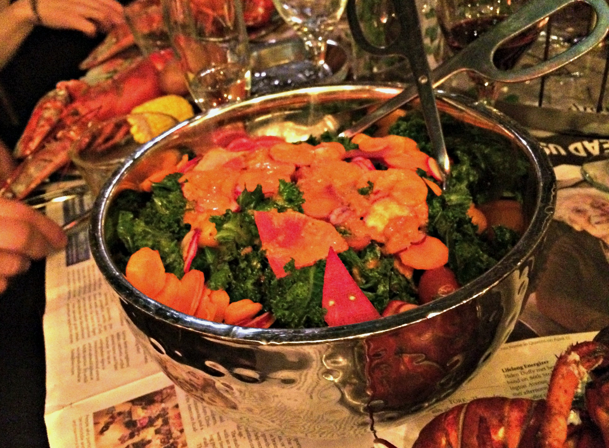 queen of the night dinner show kale salad