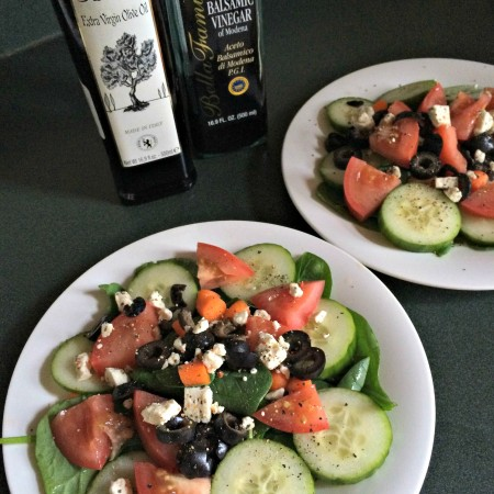 side salads with oil and vinegar for dressing