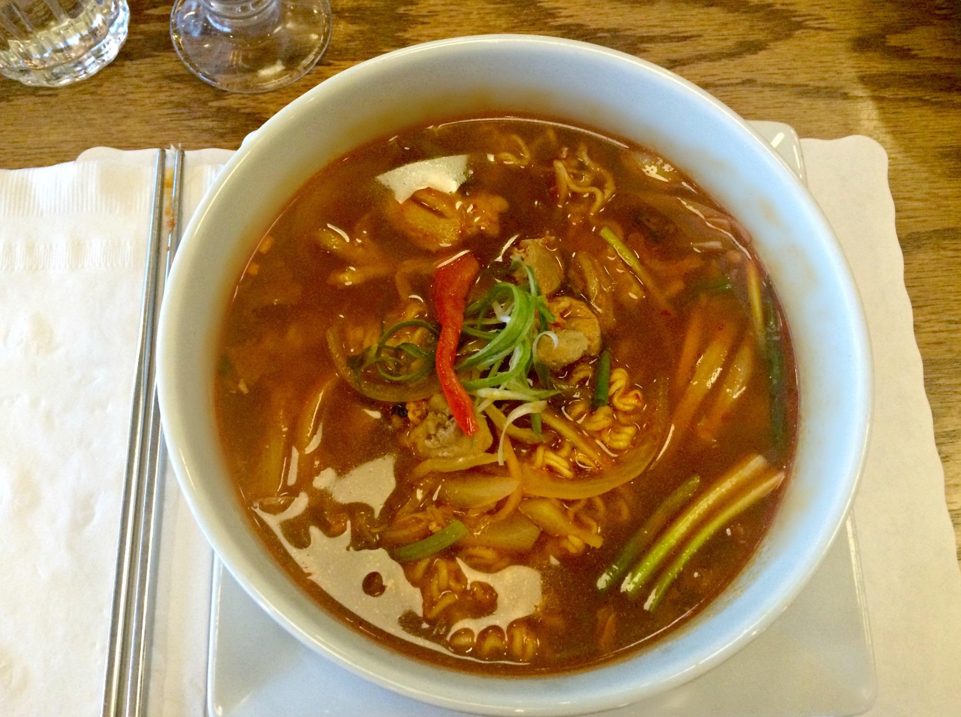 soho spicy ramen noodle bowl