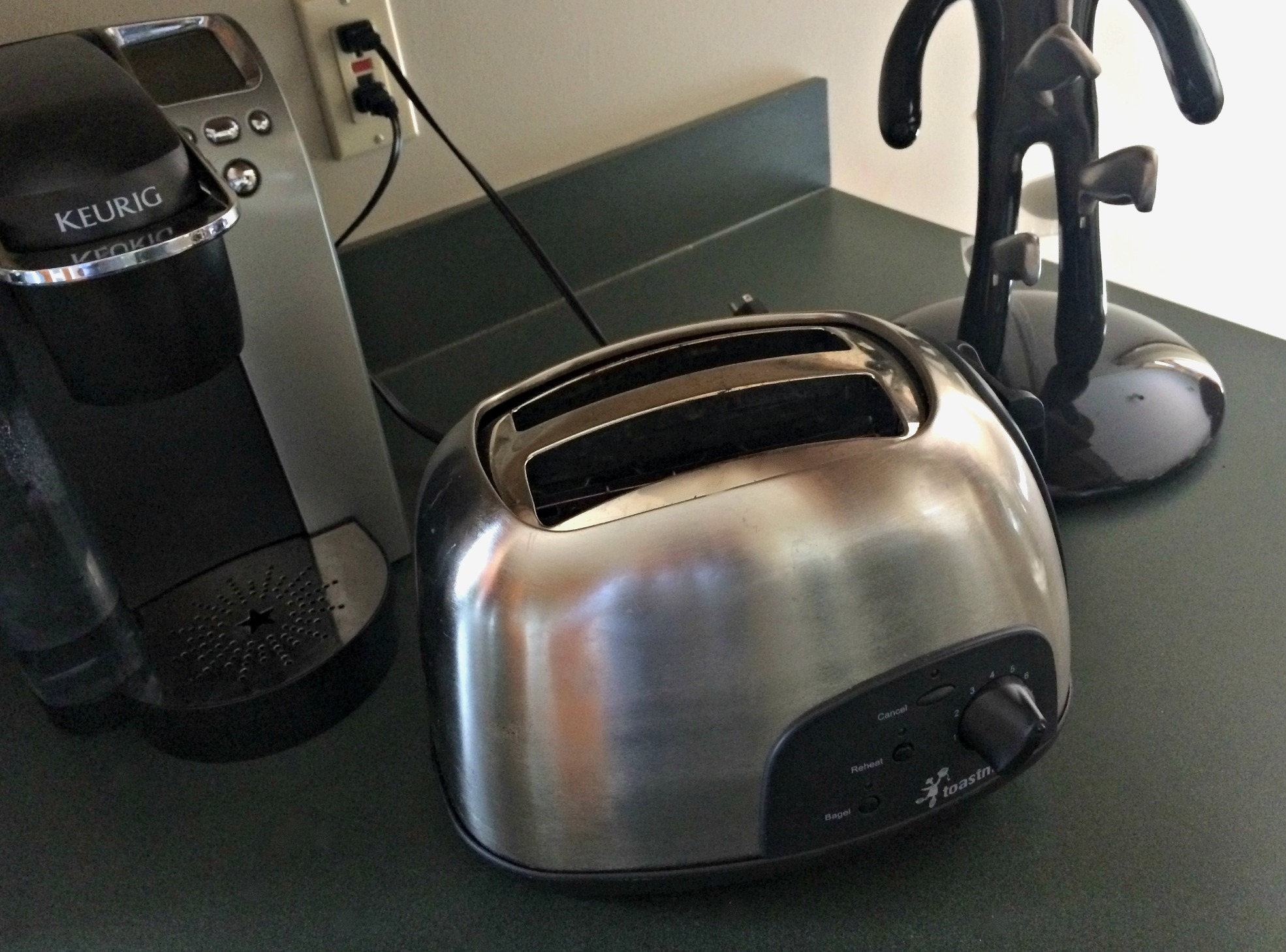 toaster on the counter
