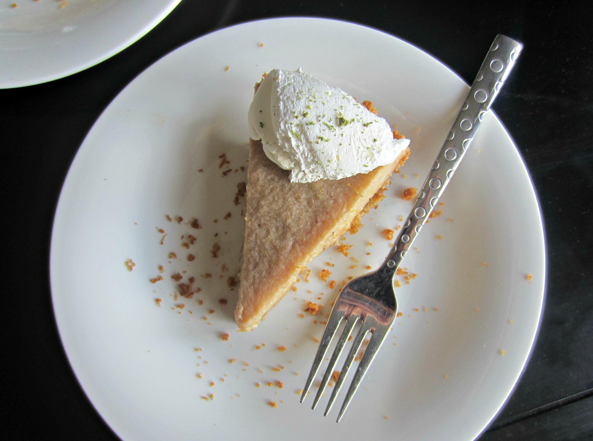 vegan key lime pie dessert