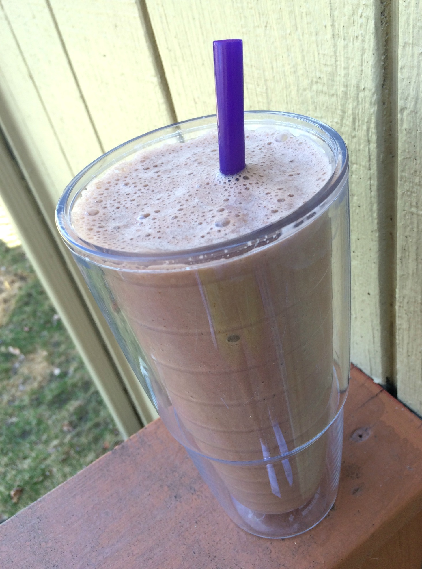 whey protein dark chocolate almond milk smoothie