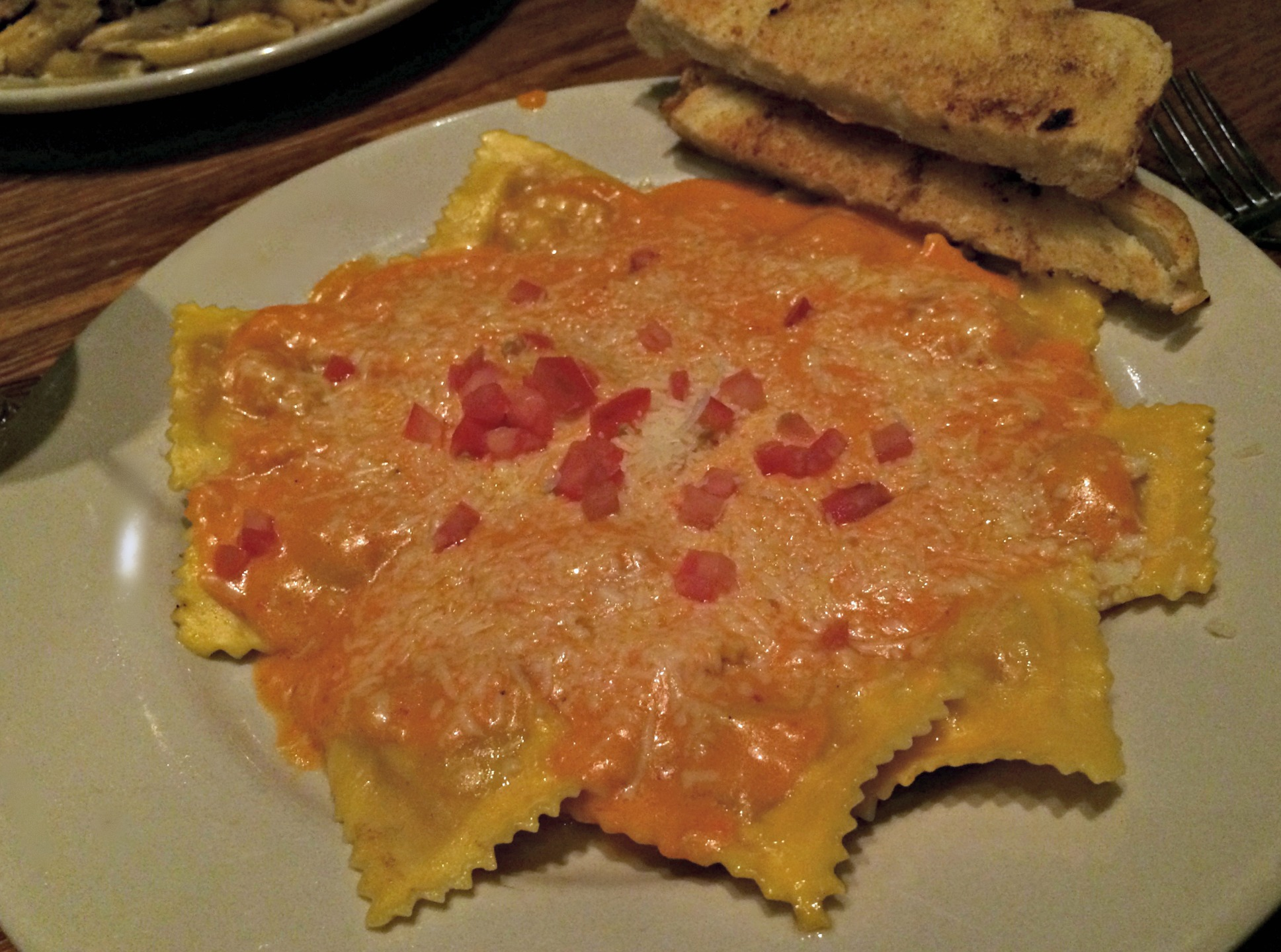 Camp Ticonderoga lobster ravioli