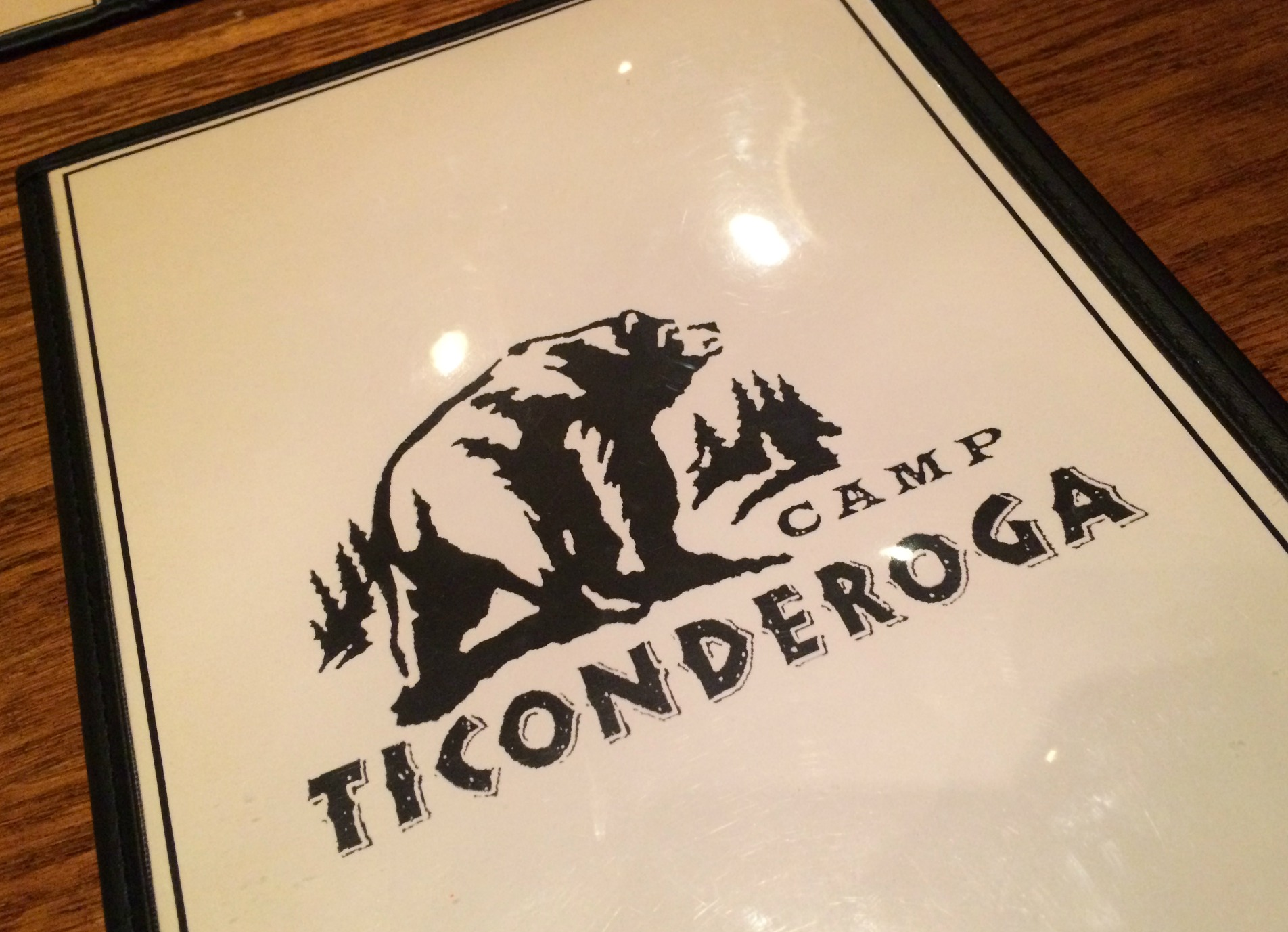 Camp Ticonderoga menu