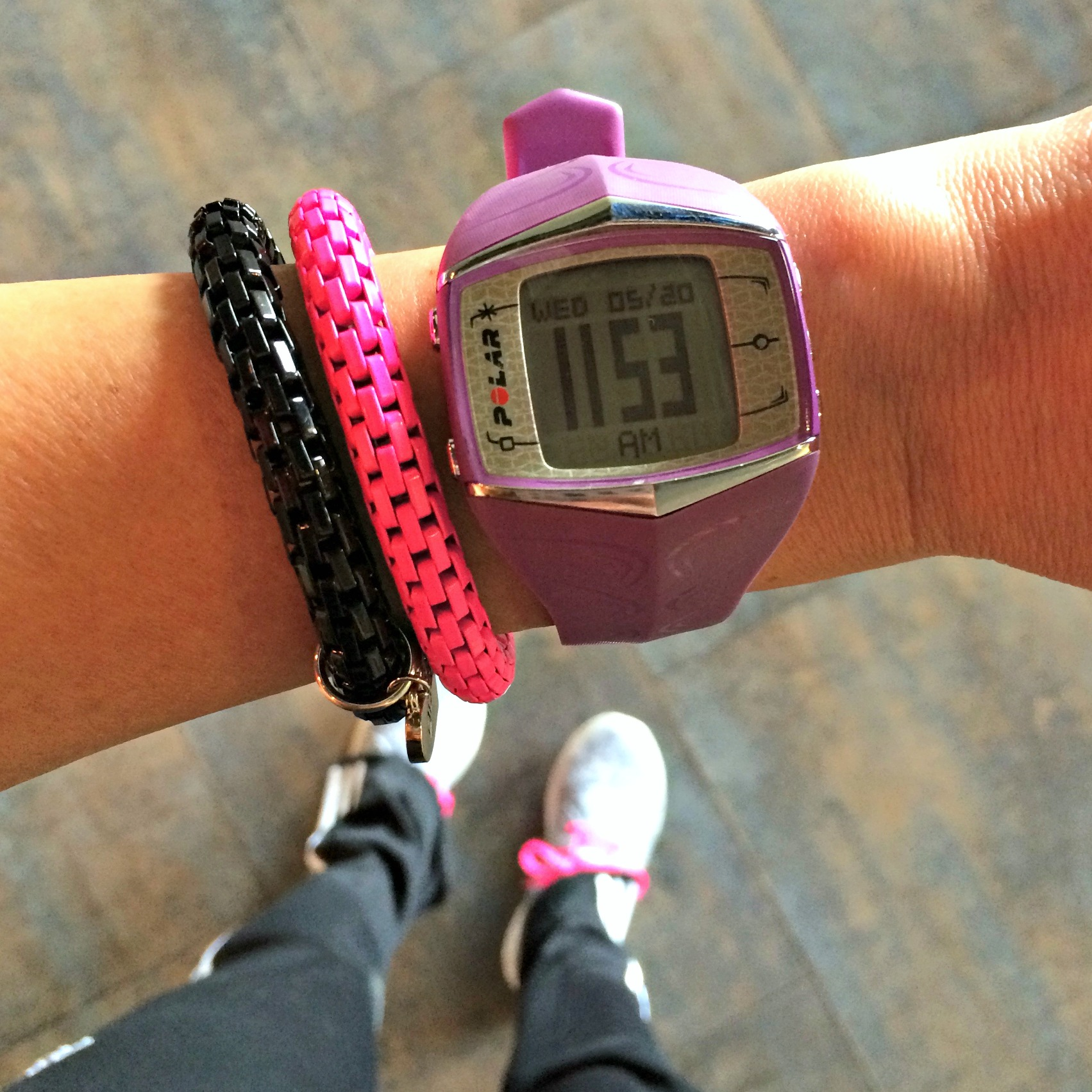 Lorna Jane Active Living Bracelets and polar watch