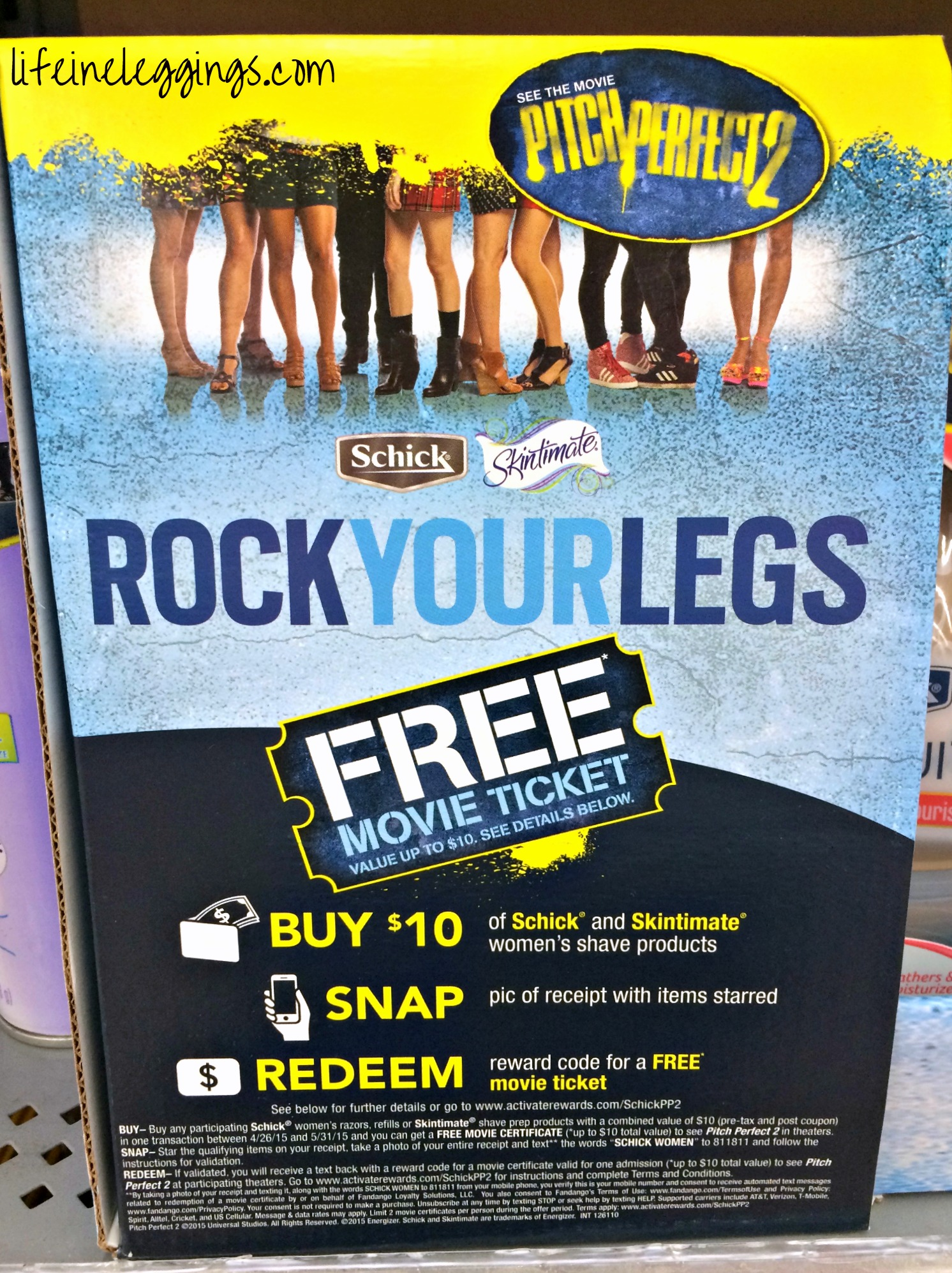 Rock Your Legs with Schick and Skintimate