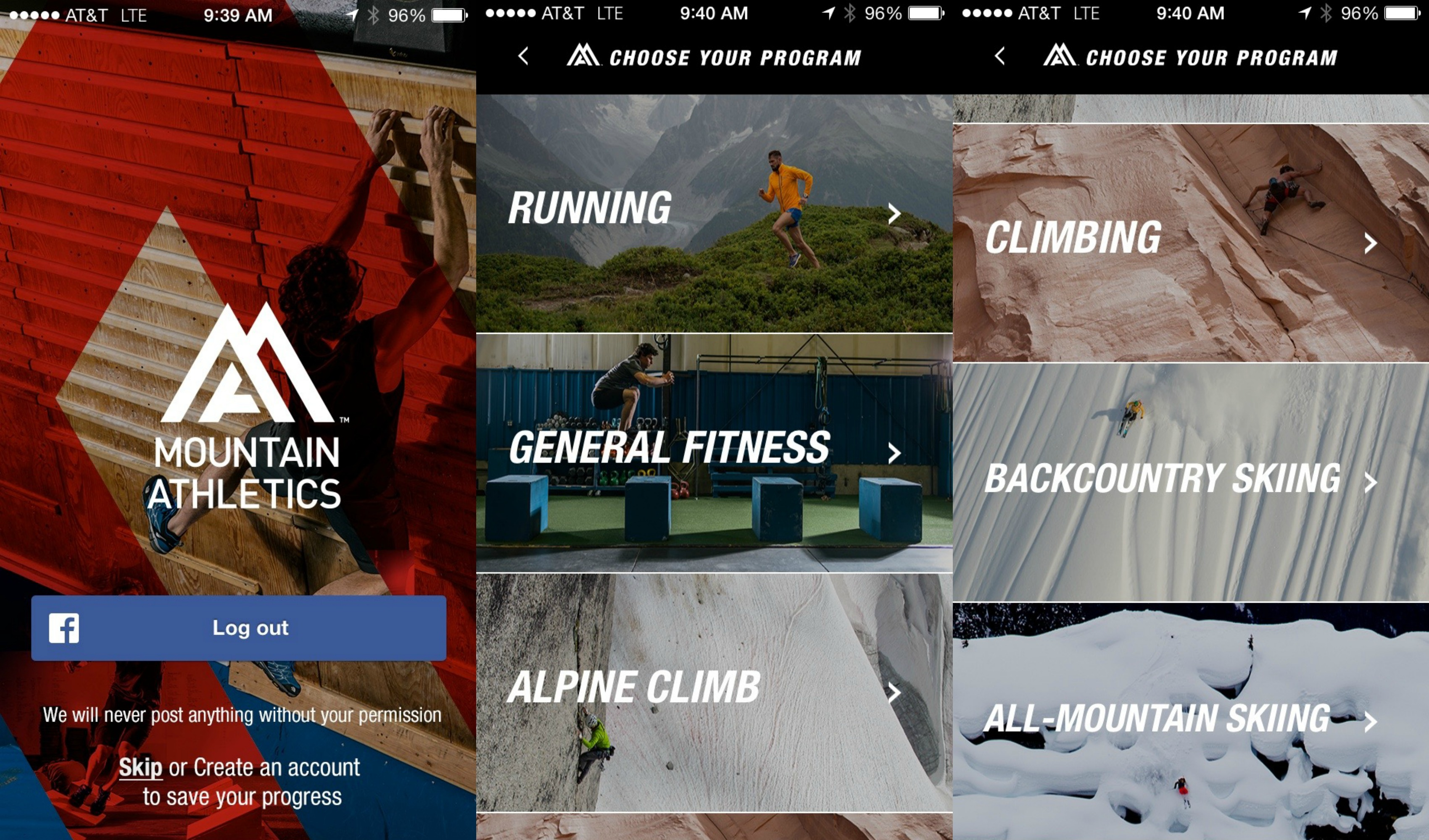 The North Face Mountain Athletics training app