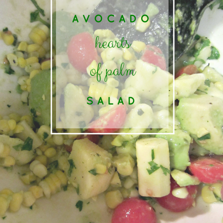 avocado hearts of palm salad