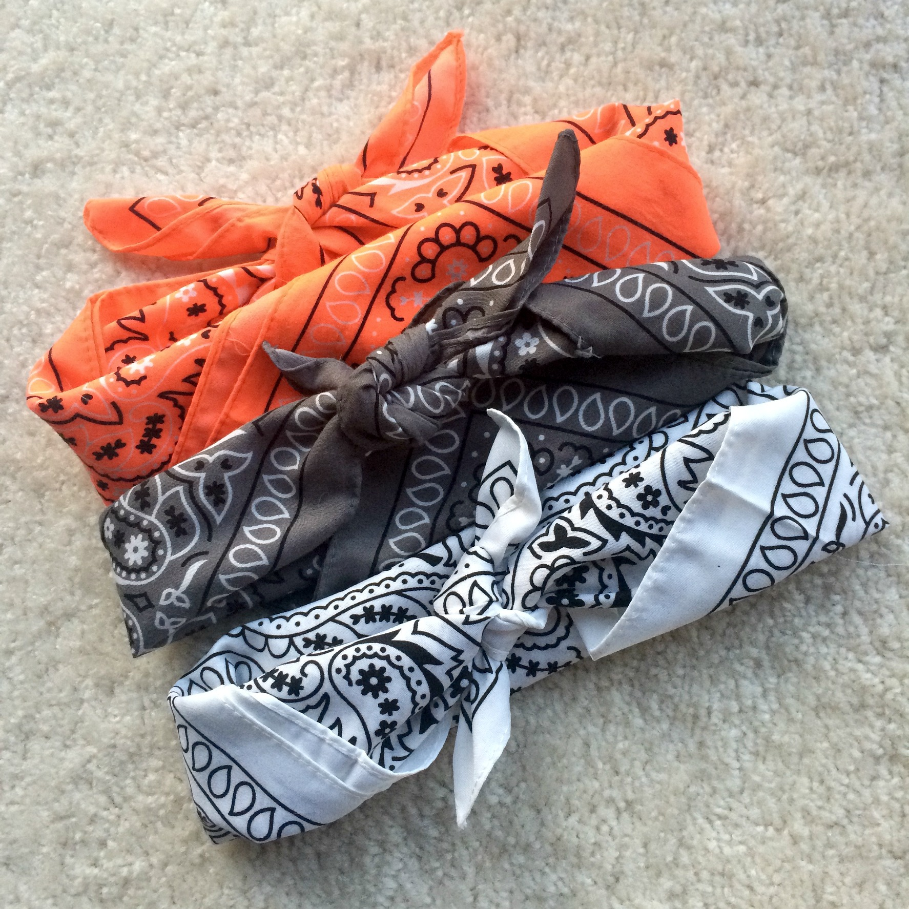 bandanas as headbands