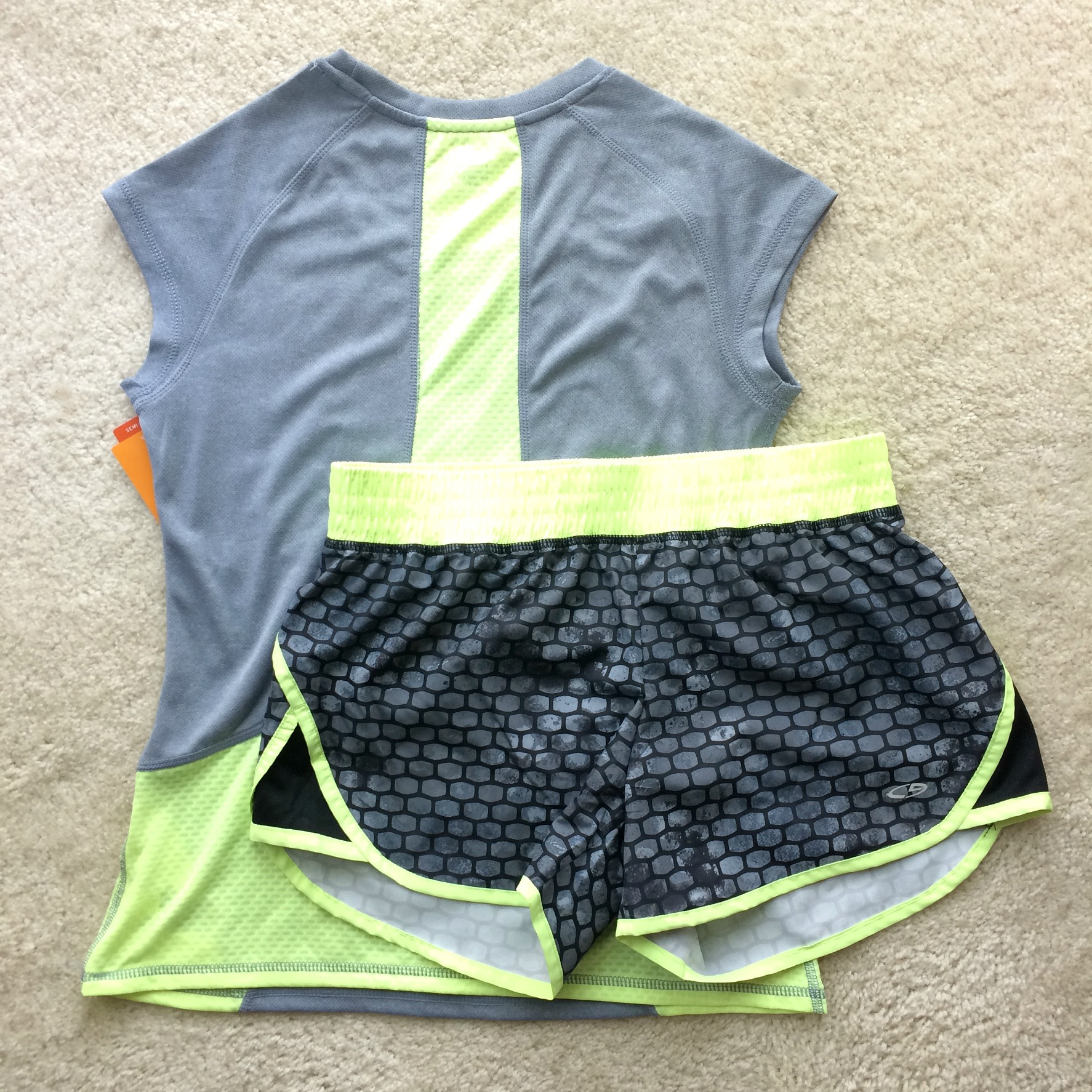 c9 running shirt and shorts from target