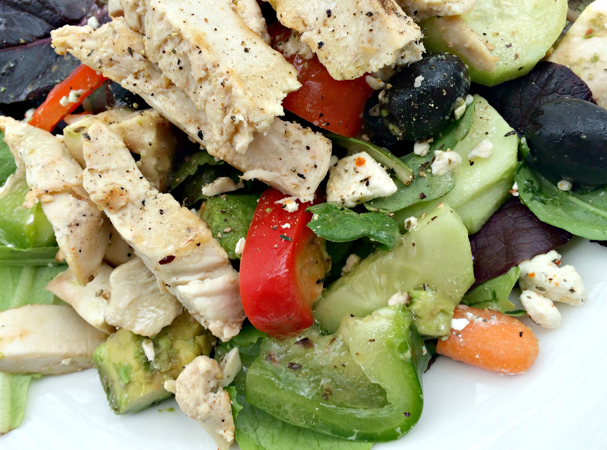 chicken and peppers vegetable salad