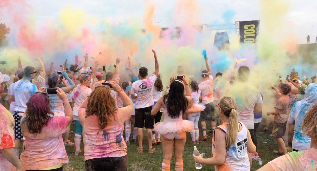 color run color bombs party
