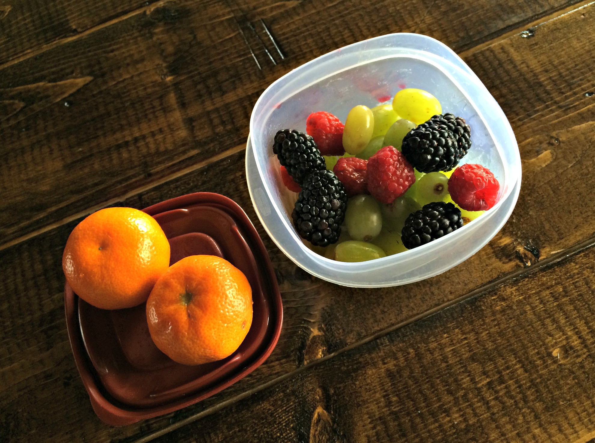 fresh fruit as a snack
