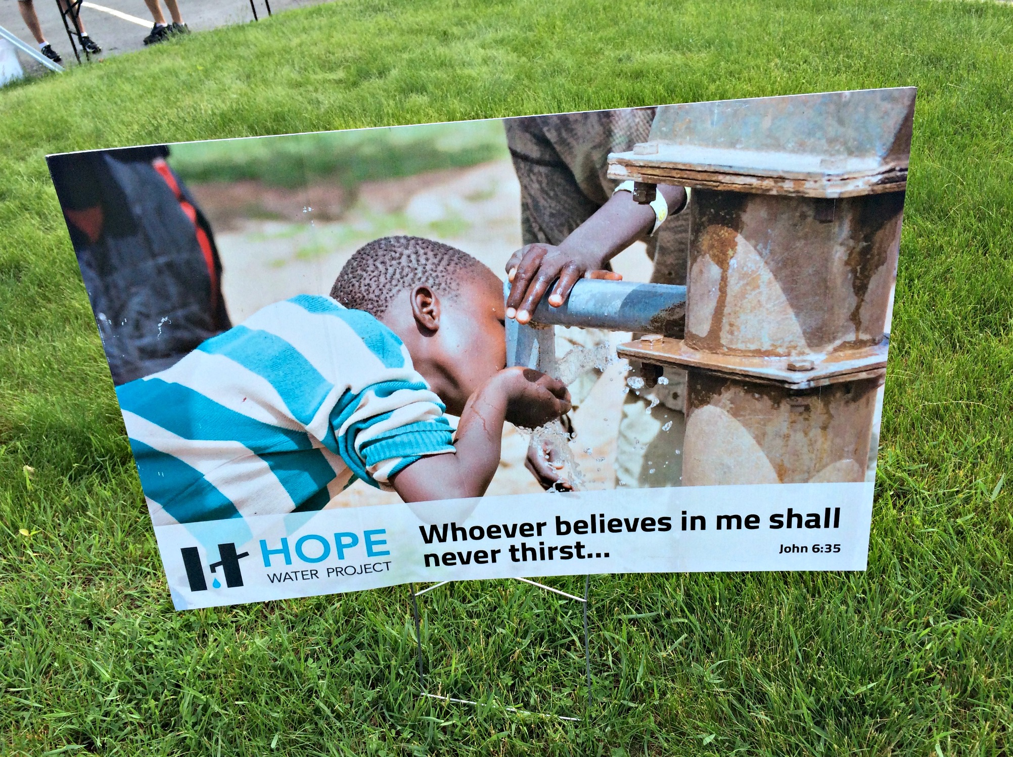 hope water project 5k sign pokot tribe