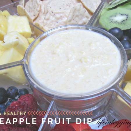 light and healthy pineapple fruit dip recipe