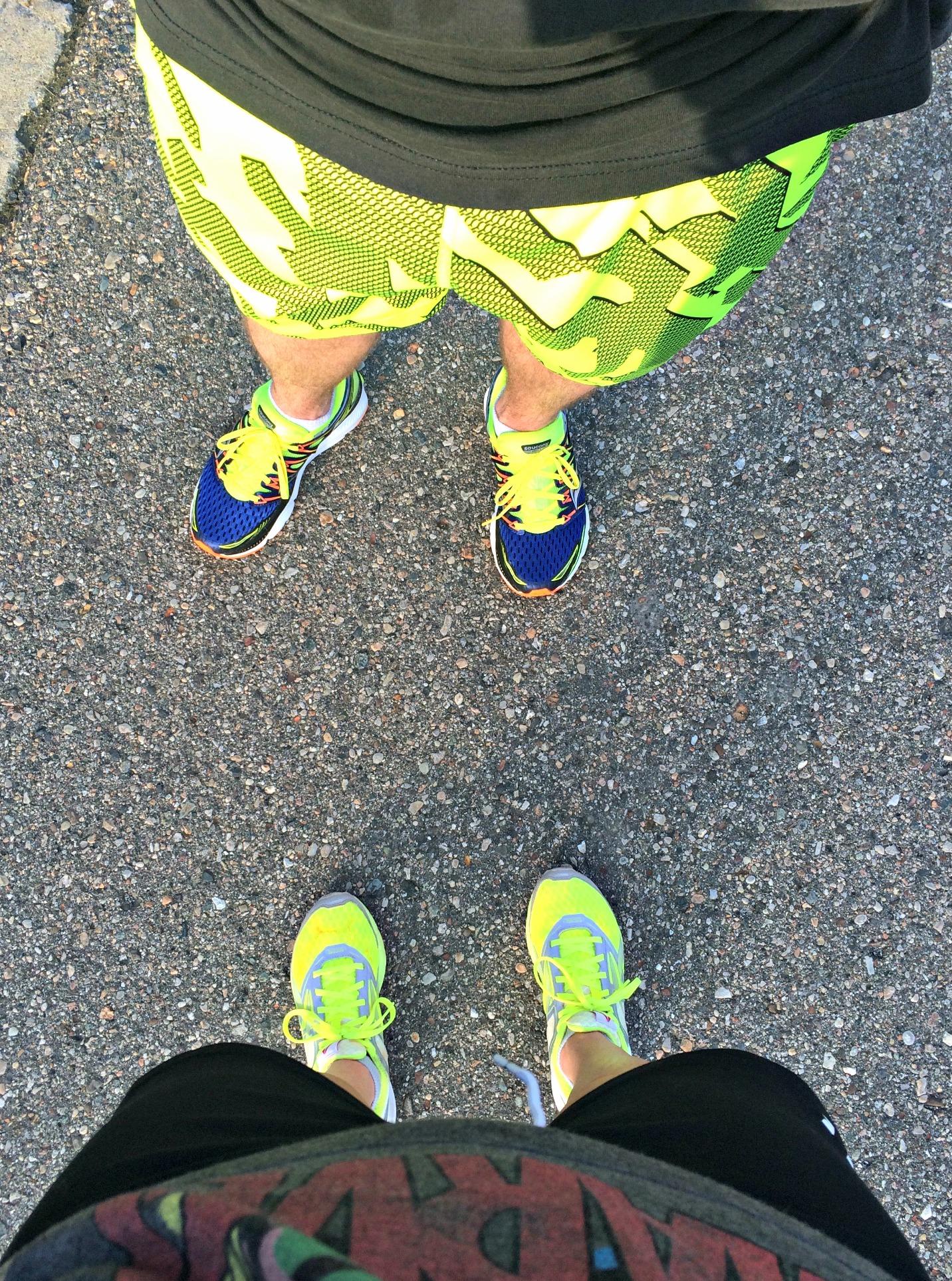 neon running gear