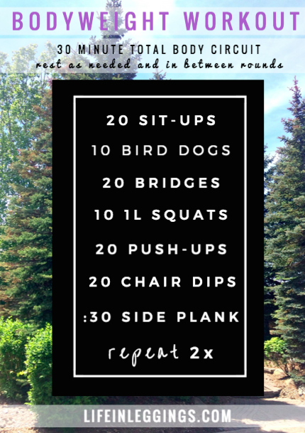 no equipment needed total body circuit workout