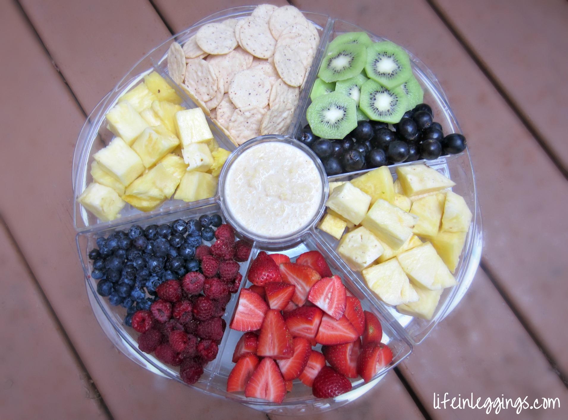 pineapple fruit dip fresh fruit and crackers