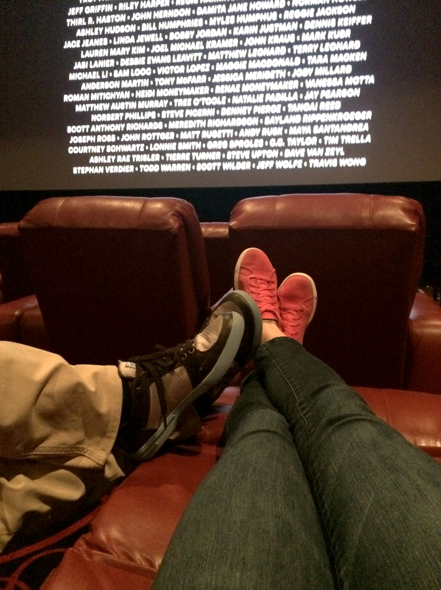 reclining seats at movie theater