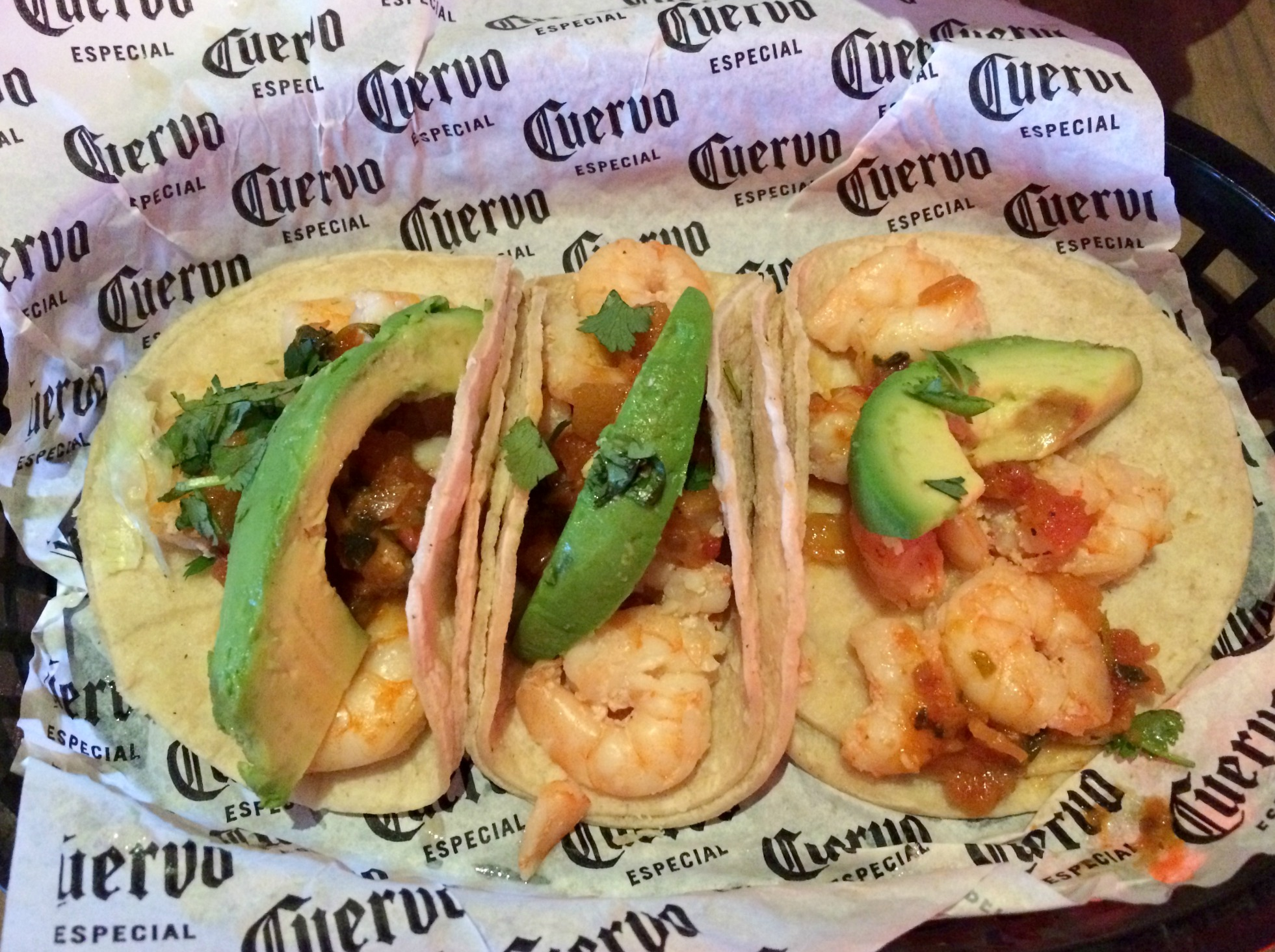 shrimp tacos rojo taco tuesday
